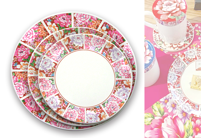 台灣花布圓盤 Taiwan soft breeze Multicolor cloth Round plate