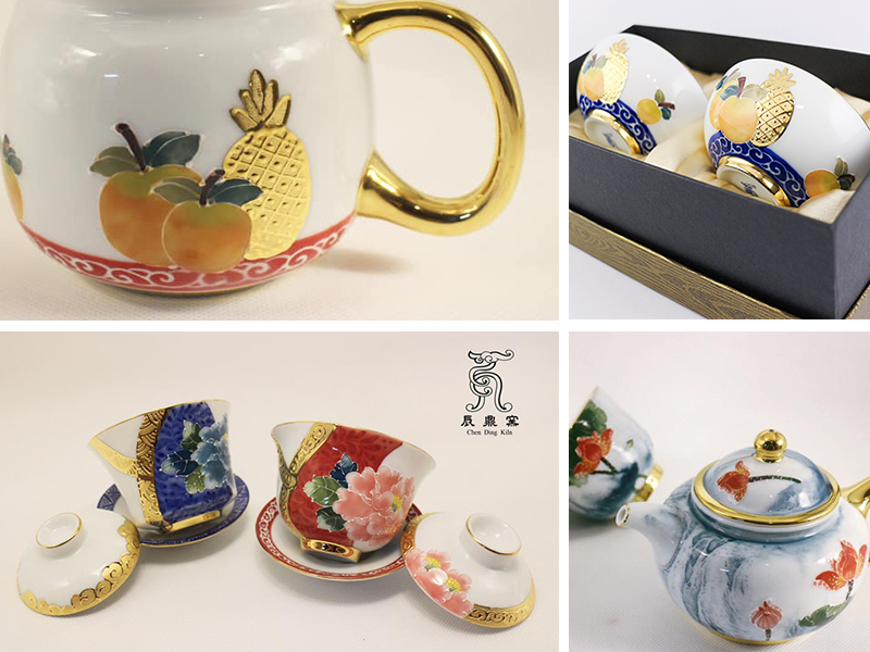 台灣陶瓷工藝鎏金法華彩Taiwan porcelain craft Gilding Art